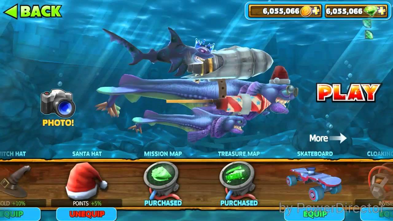 hack game hungry shark evolution