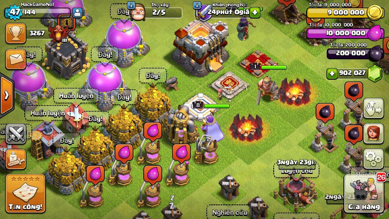 hack clash of clans full free