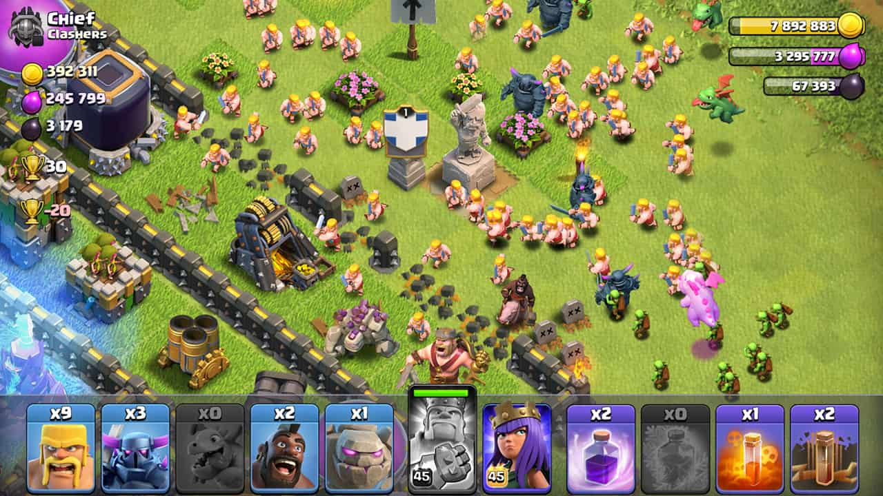 tải clash of clans hack android